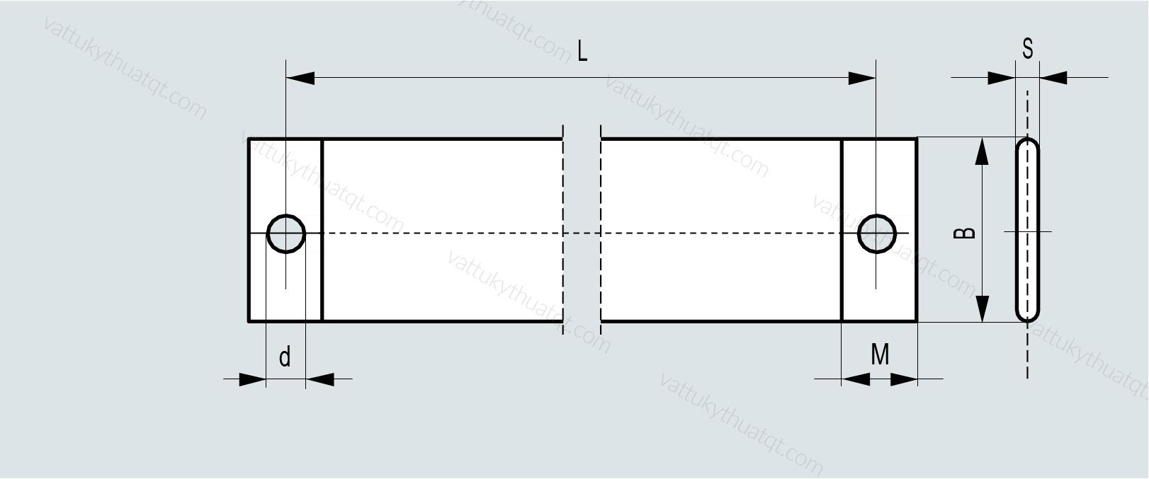 thanh nối đồng mềm 400x135x100mm