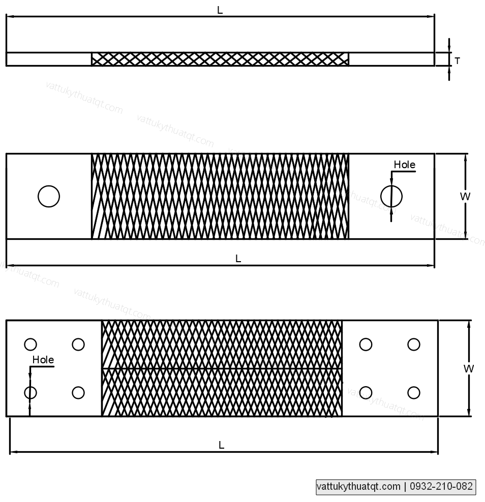 thanh nối đồng mềm 400x135x10mm