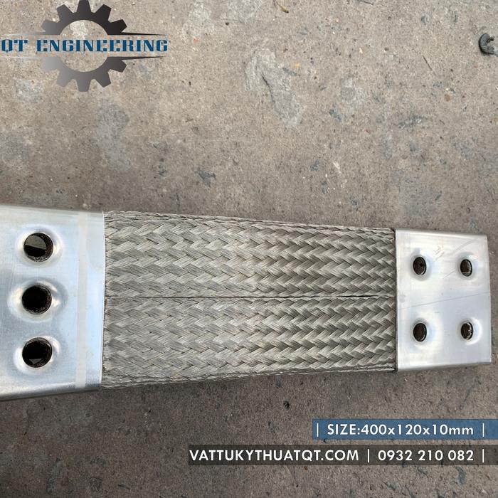 Thanh nối đồng mềm 400x120x10mm