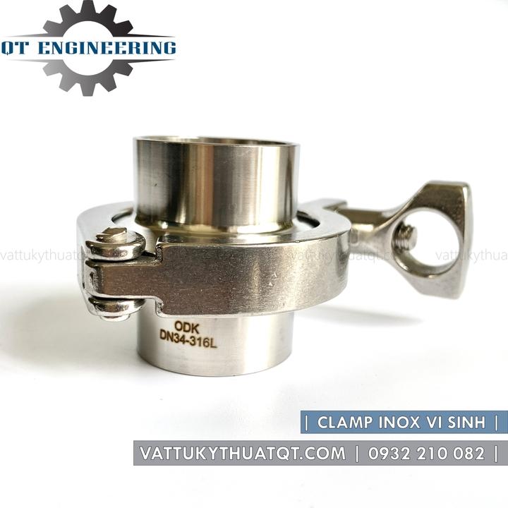 cùm clamp vi sinh inox 304/316