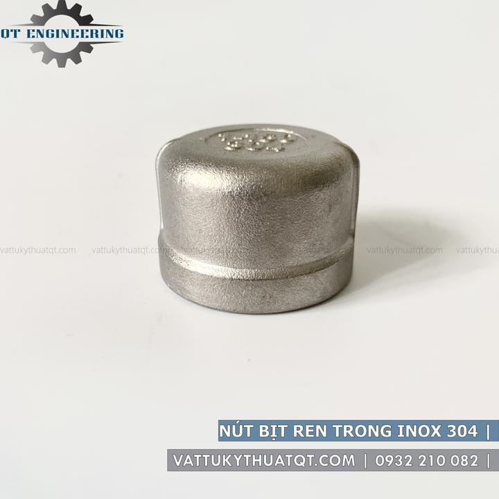 nút bịt ren trong inox 304