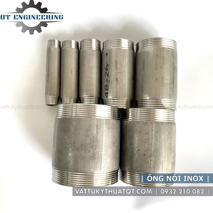 ống nối 2 đầu ren ngoài inox