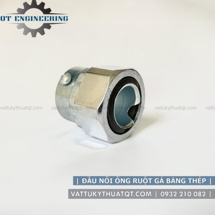 đầu nối ống ruột gà với ống trơn EMT bằng thép mạ kẽm